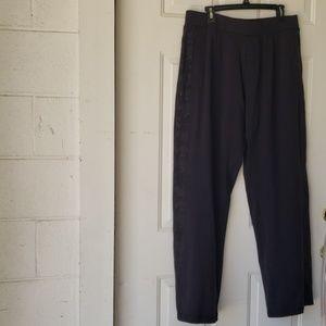 Lululemon Black Pants Camo Strip Down Sides Sz XL